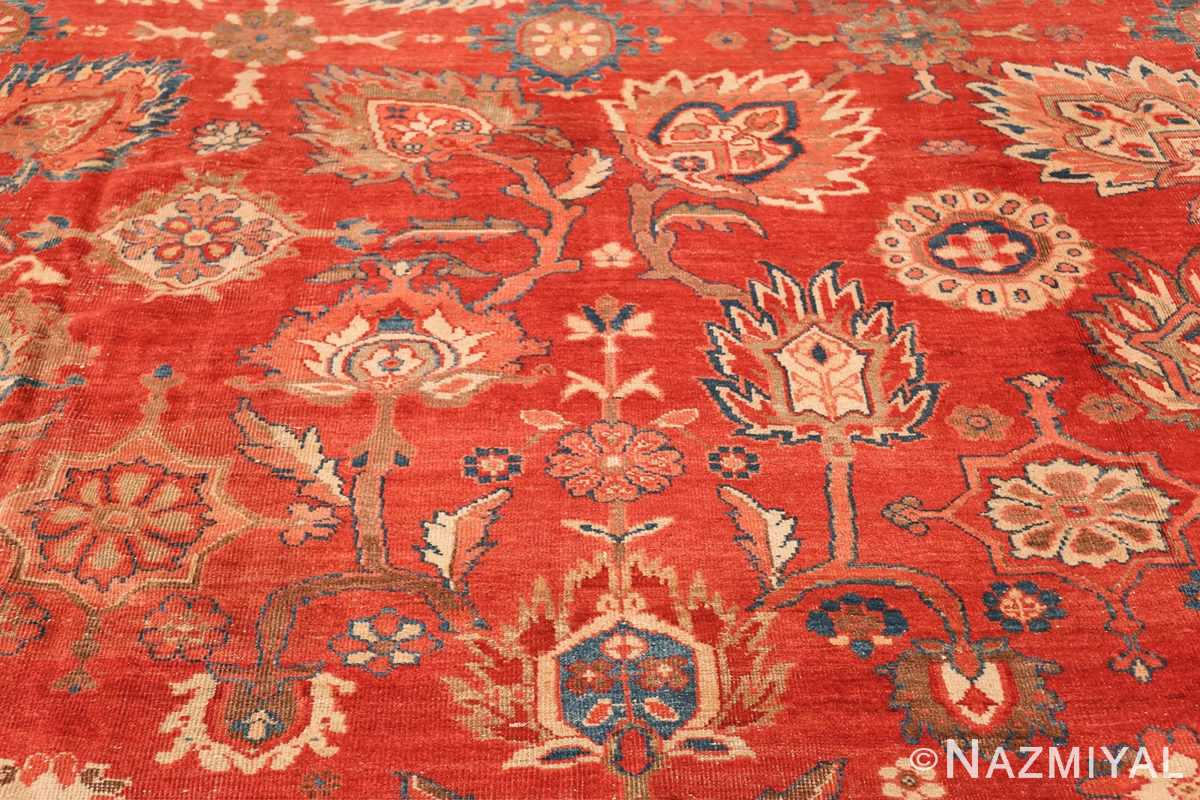 Large Oversized Red Antique Persian Sultanabad Rug 48094 Colorful Branches Nazmiyal