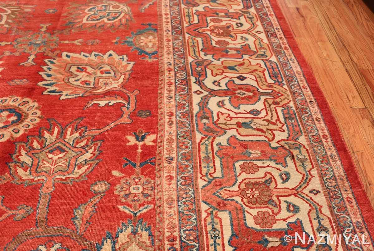 Large Oversized Red Antique Persian Sultanabad Rug 48094 Geometric Border Nazmiyal