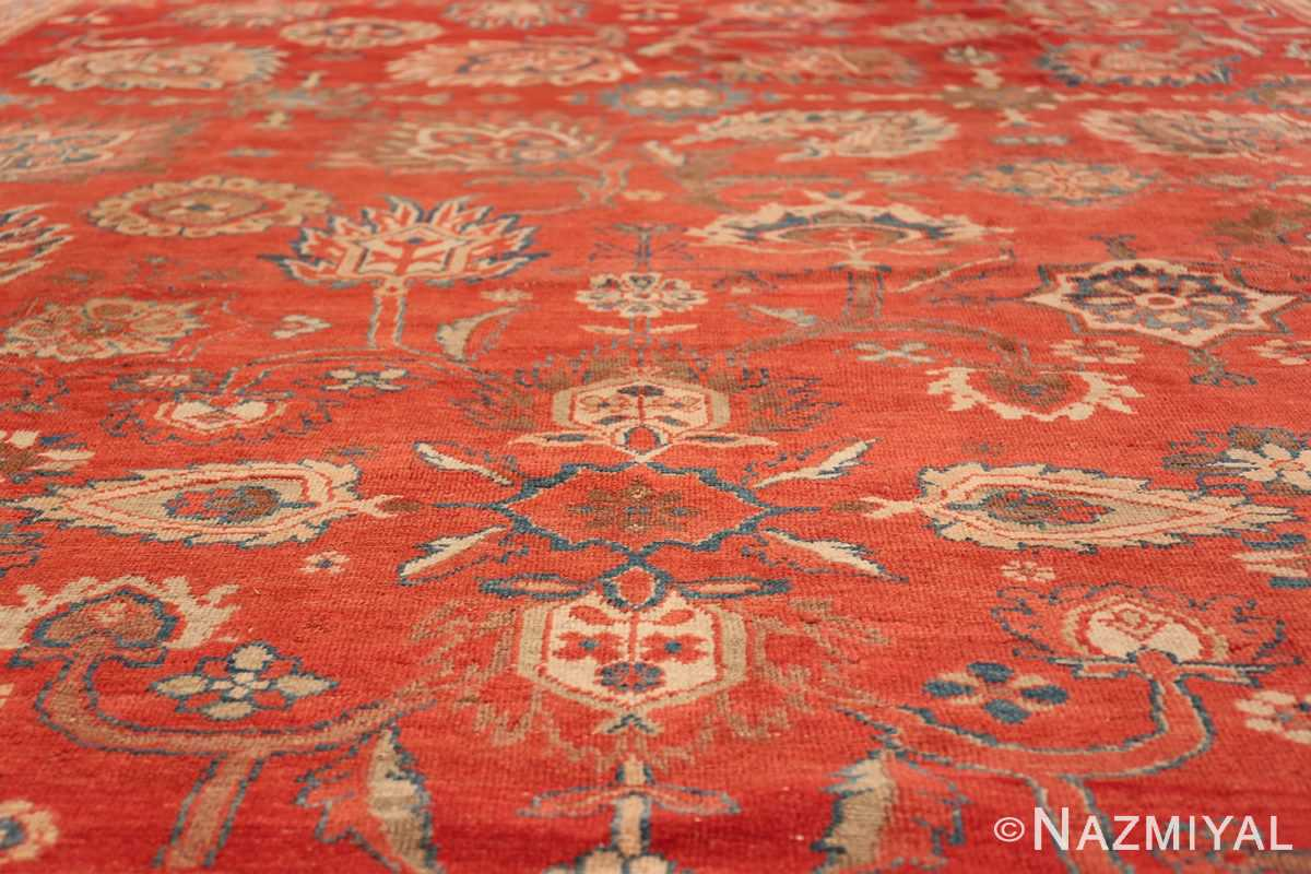 Large Oversized Red Antique Persian Sultanabad Rug 48094 Lower Design Nazmiyal