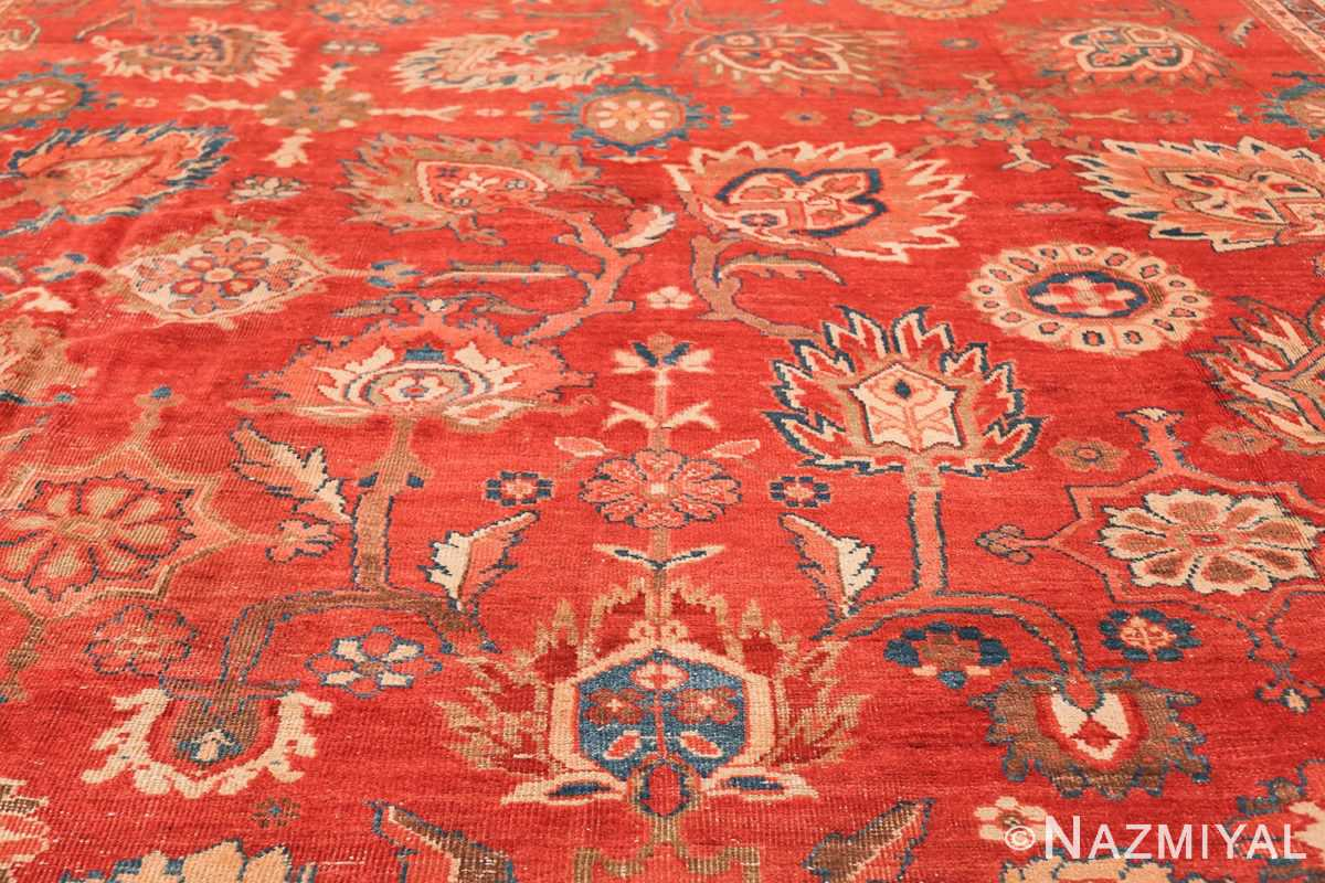 Large Oversized Red Antique Persian Sultanabad Rug 48094 Middle Design Nazmiyal