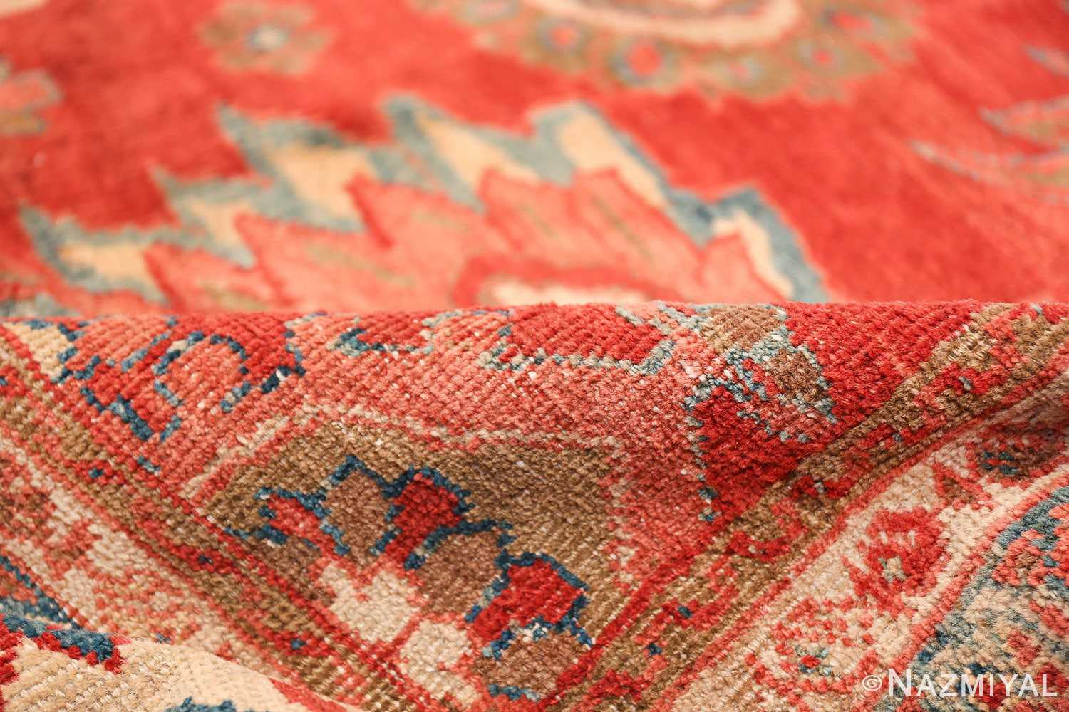 Large Oversized Red Antique Persian Sultanabad Rug 48094 Red Pile Nazmiyal