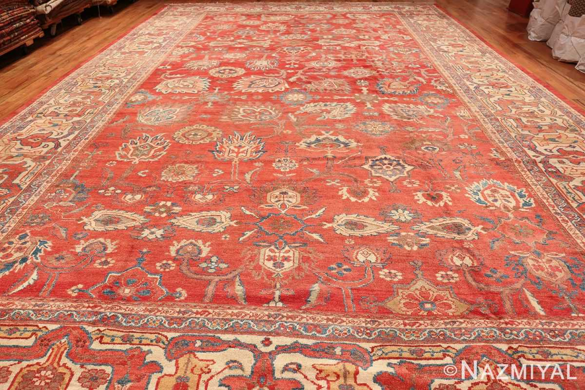 Large Oversized Red Antique Persian Sultanabad Rug 48094 Whole Design Nazmiyal