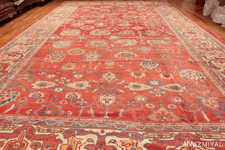 Large Oversized Red Antique Persian Sultanabad Rug 48094 Whole Design Nazmiyal
