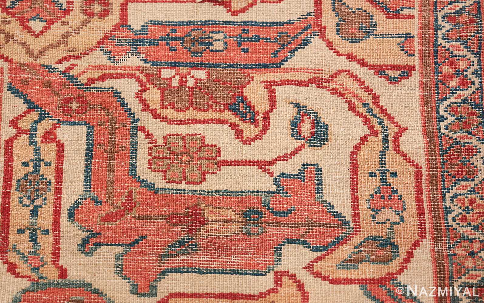 Large Oversized Red Antique Persian Sultanabad Rug 48094 Woven Knots Nazmiyal