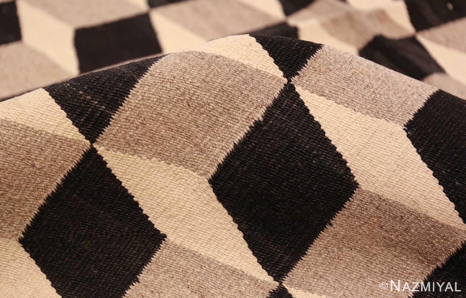 native american indian vintage navajo kilim 48145 pile Nazmiyal