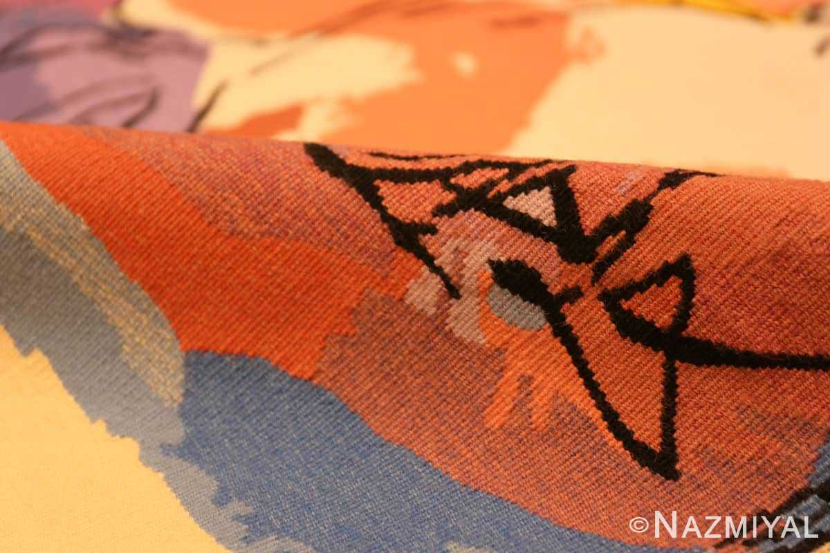 Pile Moses and burning bush Israeli tapestry Abraham Rattner 48152 by Nazmiyal collection