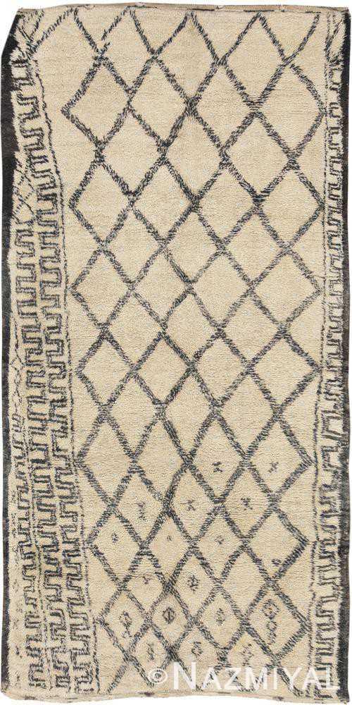 Vintage Moroccan Beni Ourain Rug 46429