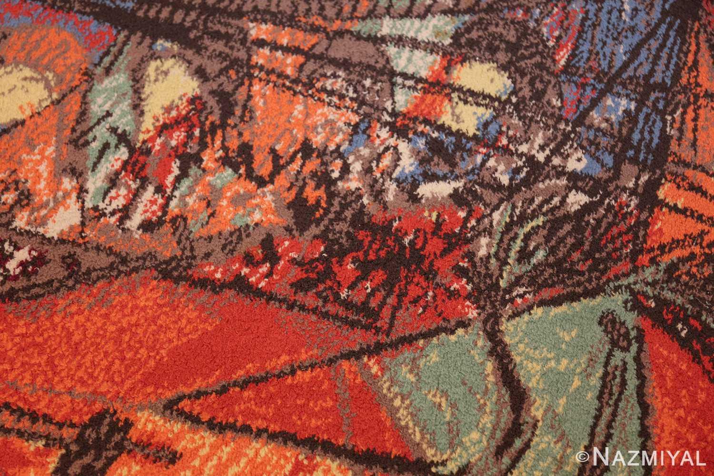 vintage pablo picasso rug 48120 colorful Nazmiyal