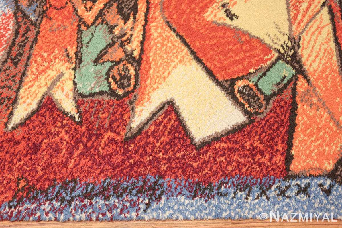 vintage pablo picasso rug 48120 entire Nazmiyal