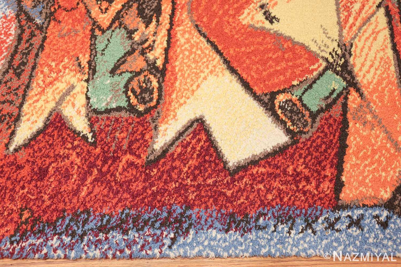 vintage pablo picasso rug 48120 entire Nazmiyal