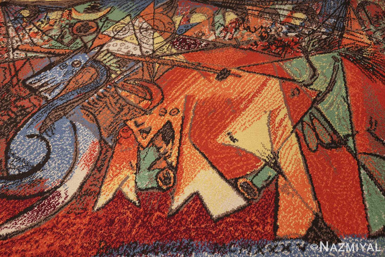 vintage pablo picasso rug 48120 field Nazmiyal
