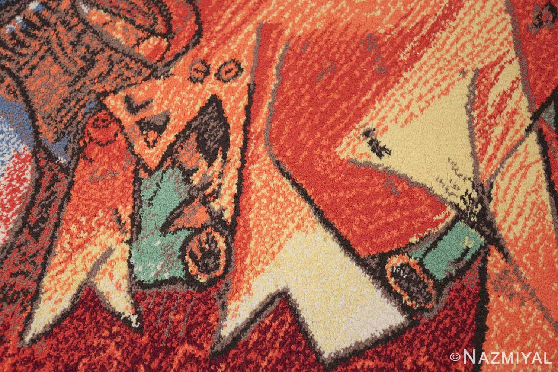 vintage pablo picasso rug 48120 fish Nazmiyal