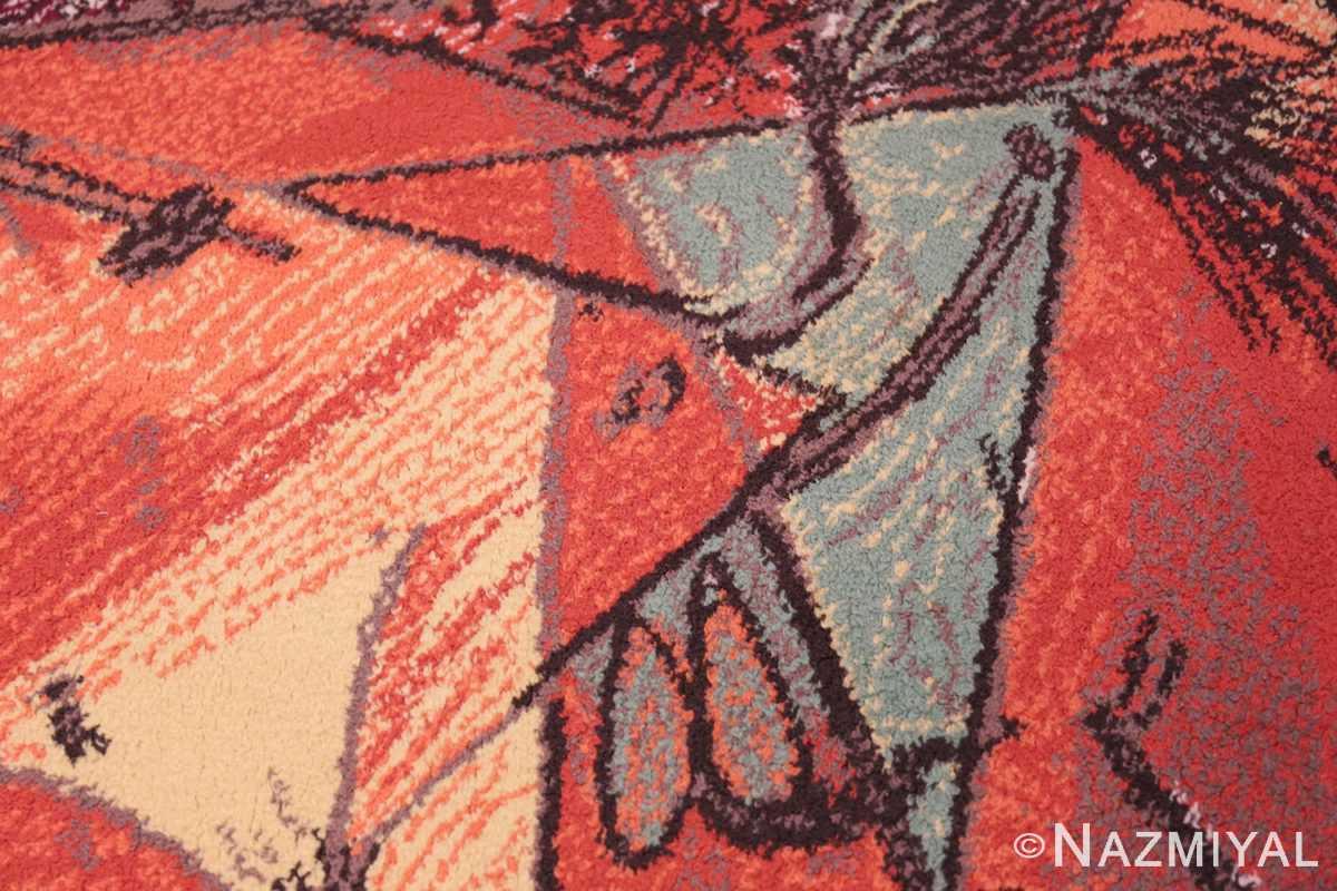 vintage pablo picasso rug 48120 horse Nazmiyal