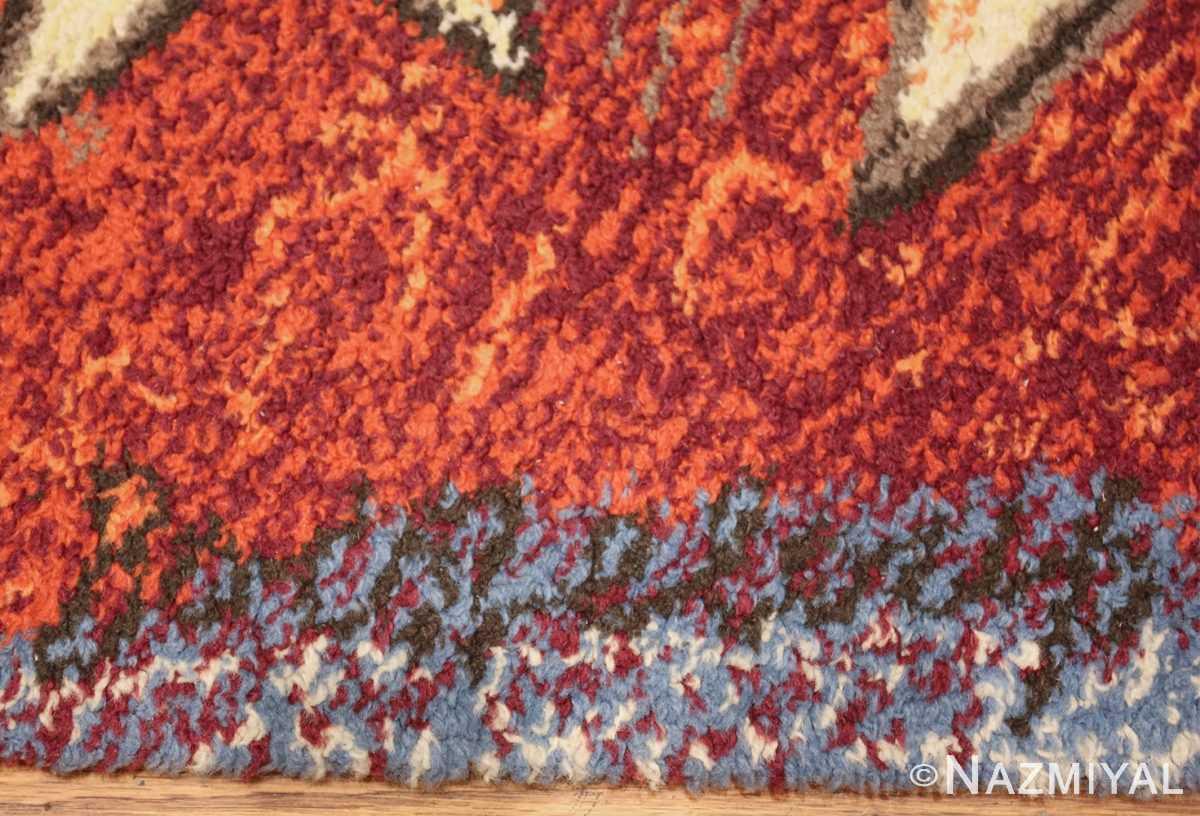 vintage pablo picasso rug 48120 signature Nazmiyal