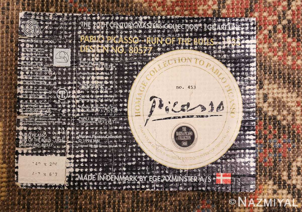 vintage pablo picasso rug 48120 tag Nazmiyal