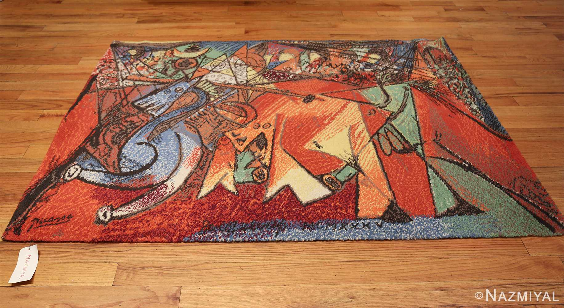 vintage pablo picasso rug 48120 whole Nazmiyal