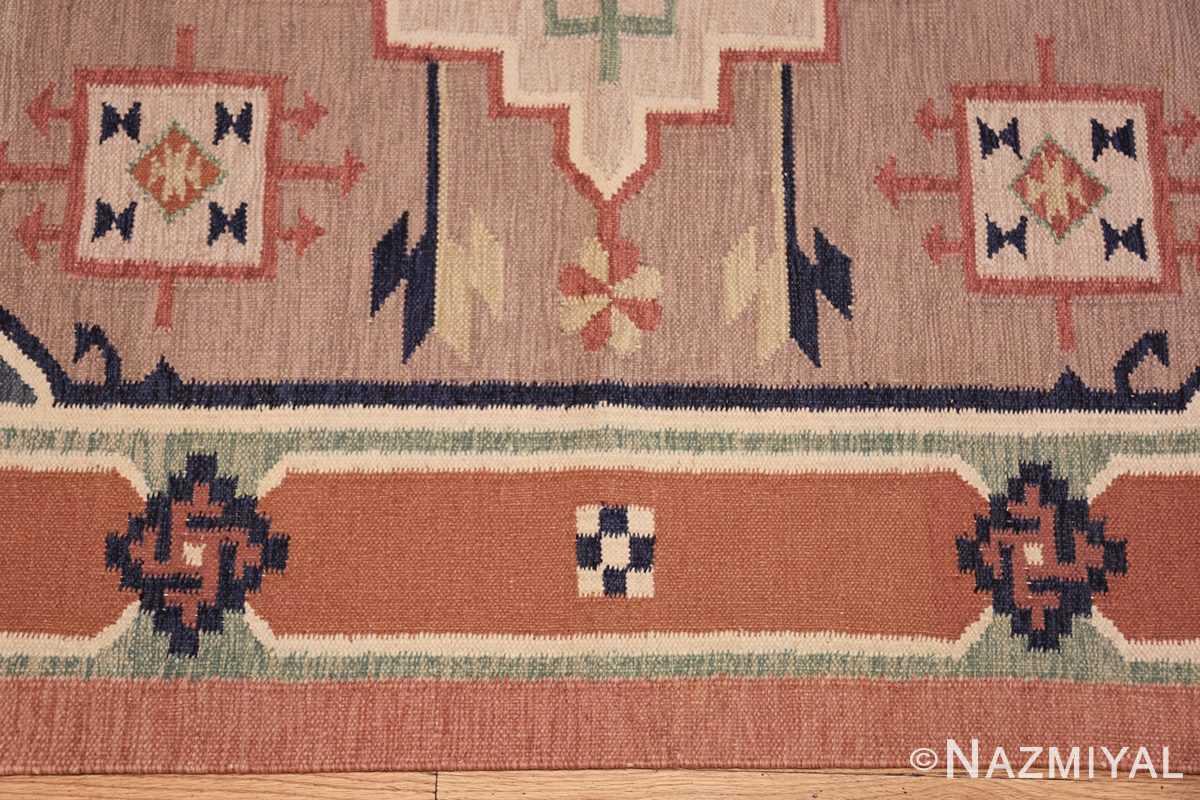 vintage scandinavian swedish rug 48116 border Nazmiyal