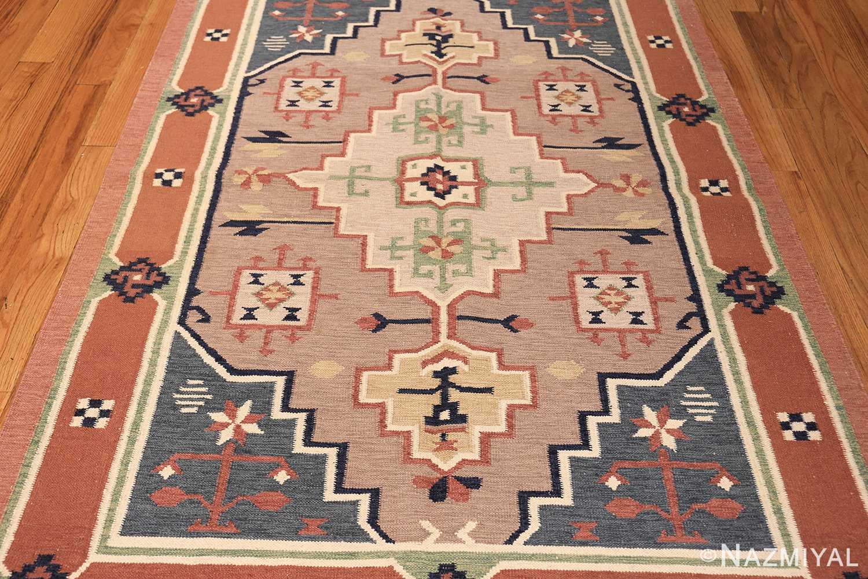 vintage scandinavian swedish rug 48116 field Nazmiyal