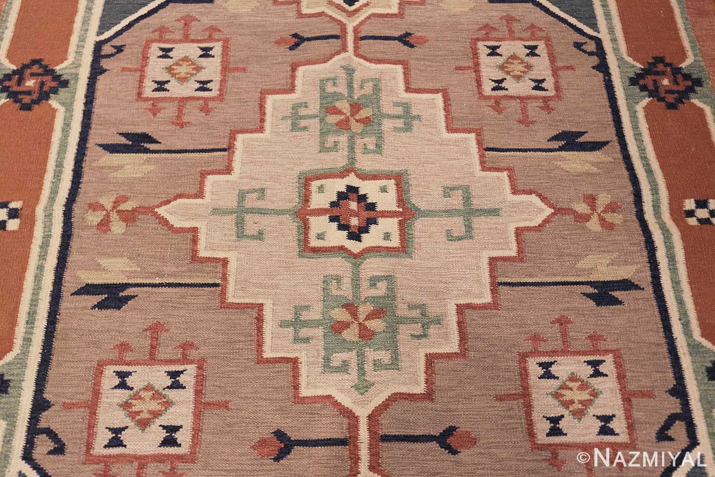 vintage scandinavian swedish rug 48116 medallion Nazmiyal