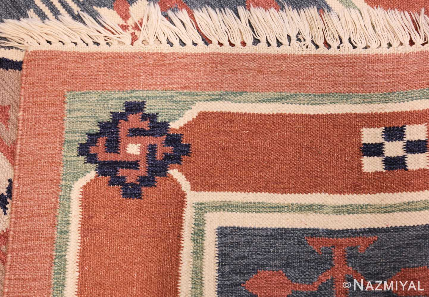 vintage scandinavian swedish rug 48116 weave Nazmiyal