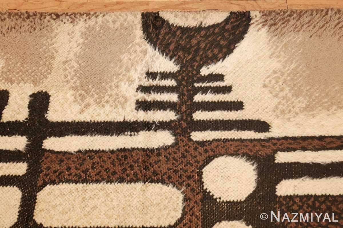 vintage scandinavian swedish rya rug 48086 border Nazmiyal