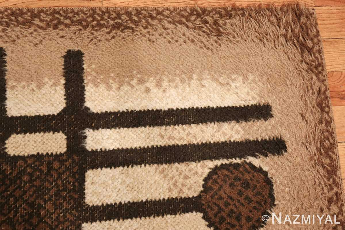 vintage scandinavian swedish rya rug 48086 corner Nazmiyal