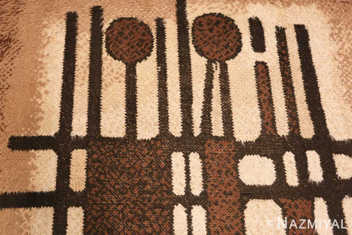 vintage scandinavian swedish rya rug 48086 design Nazmiyal