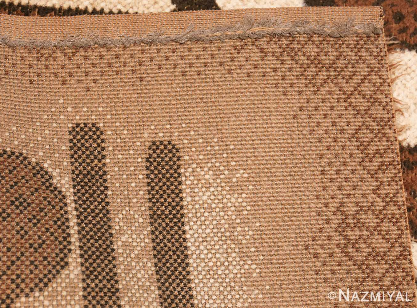 vintage scandinavian swedish rya rug 48086 weave Nazmiyal