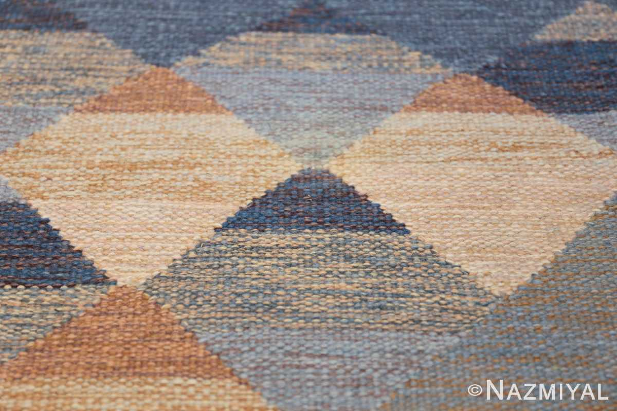 vintage swedish kilim 48110 texture Nazmiyal