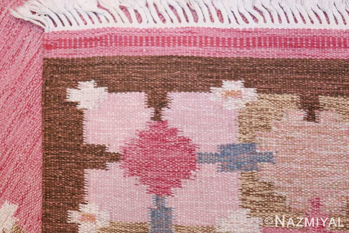 Vintage Swedish Kilim by Gitt Grannsjo Carlsson 48047 Knots Weave Nazmiyal