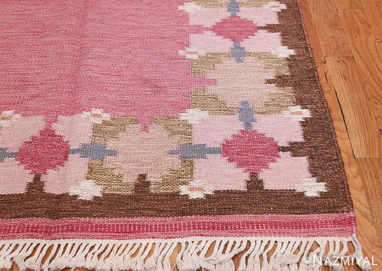 Vintage Swedish Kilim by Gitt Grannsjo Carlsson 48047 Side Corner Nazmiyal