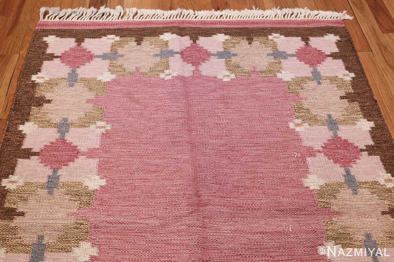 Vintage Swedish Kilim by Gitt Grannsjo Carlsson 48047 Top Design Nazmiyal
