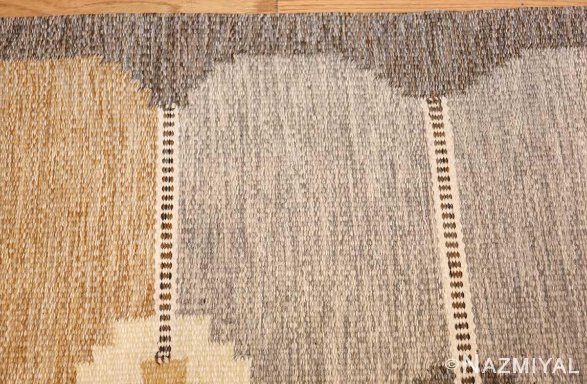 vintage swedish kilim by ingegerd silow 48109 borer Nazmiyal