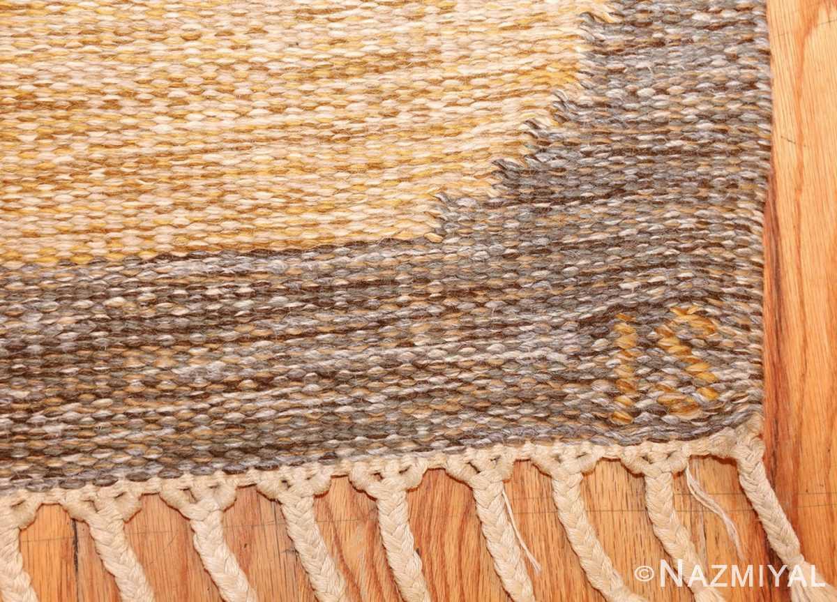 vintage swedish kilim by ingegerd silow 48109 signature Nazmiyal