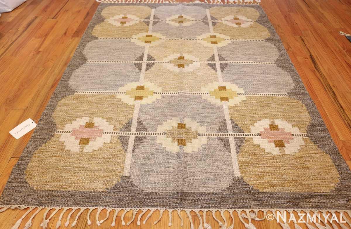 vintage swedish kilim by ingegerd silow 48109 whole Nazmiyal