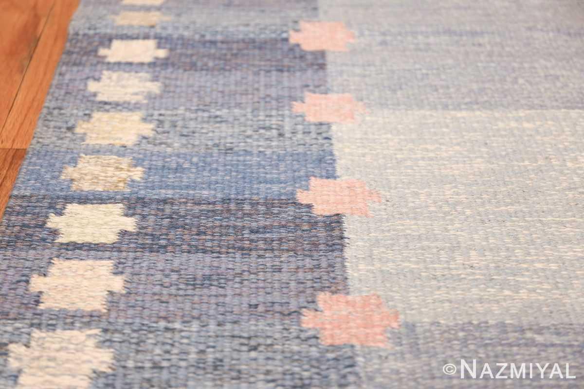 Vintage Swedish kilim rug by Anna Joanna Angstrom 48111 border Nazmiyal