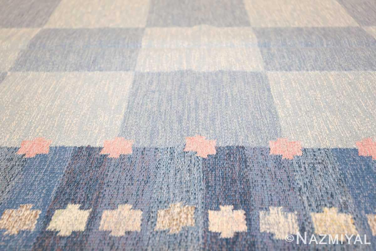 Vintage Swedish kilim rug by Anna Joanna Angstrom 48111 field Nazmiyal