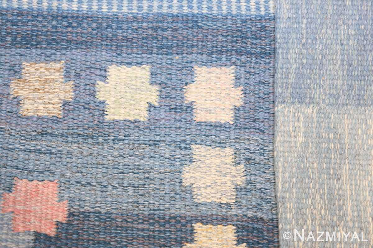 Vintage Swedish kilim rug by Anna Joanna Angstrom 48111 knots Nazmiyal