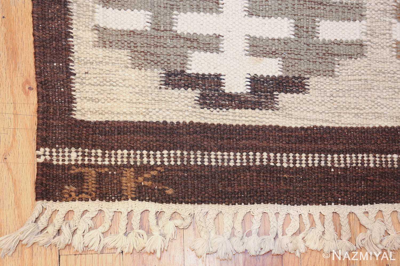 vintage swedish rug by karen jonsson 48119 initials Nazmiyal