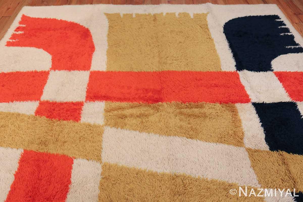 Vintage Swedish Rya Rug 48085 Top Design Nazmiyal