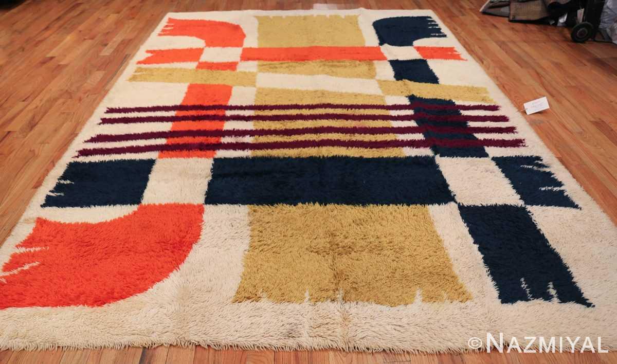 Vintage Swedish Rya Rug 48085 Whole Design Nazmiyal