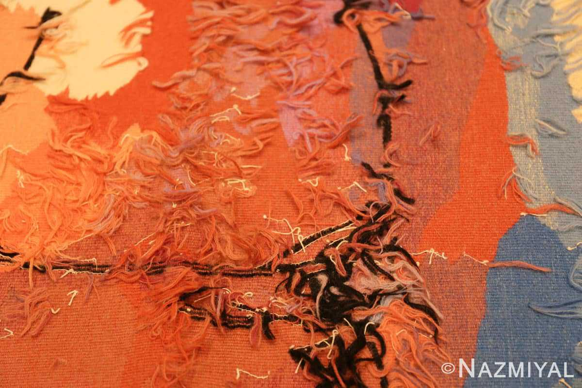 Weave detail Moses and burning bush Israeli tapestry Abraham Rattner 48152 by Nazmiyal collection