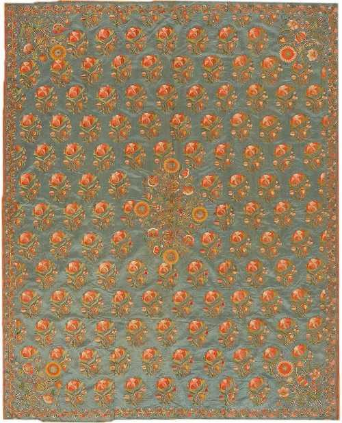 Ottoman Silk Textile by Nazmiyal