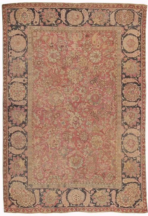 17th Century Mughal Rug by Nazmiyal