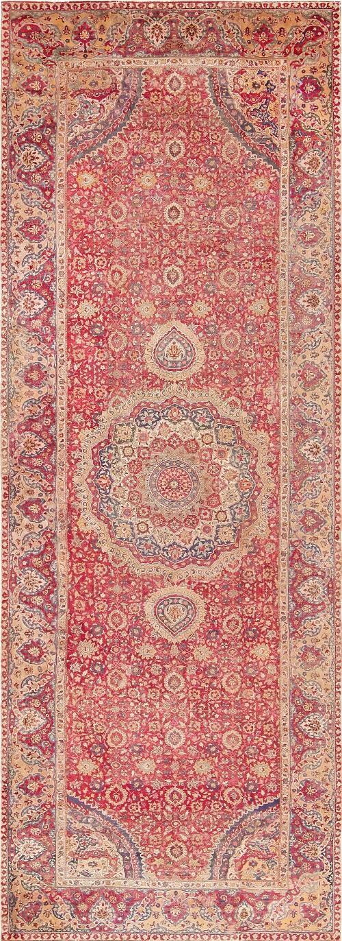 Antique Indian Mughal Rug by Nazmiyal