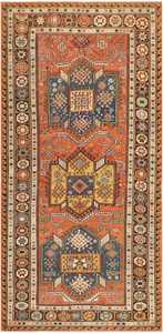 Antique Caucasian Soumak Rug 47147 Nazmiyal