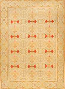 Fleur De Lis Design Antique Needlepoint English Rug 1112 Nazmiyal