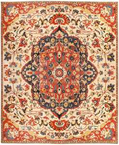 Oversized Antique Persian Sarouk Farahan Carpet 46926 Nazmiyal