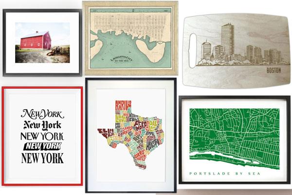 Geography Specific Artworks by Nazmiyal Design Blog