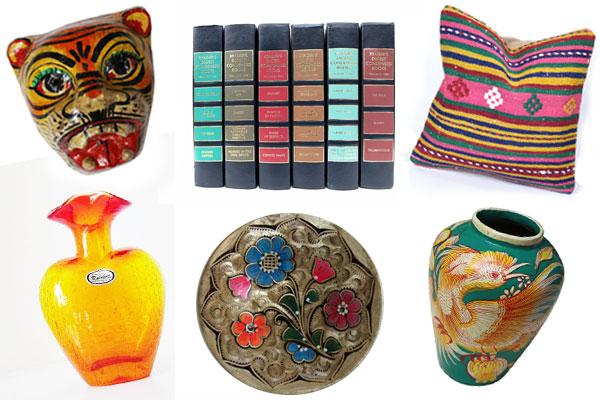 Give the Gift of Colorful Vintage Homegoods by Nazmiyal Design Blog